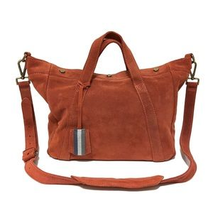 ❤️ Madewell Suede Stockholm Satchel in Rust