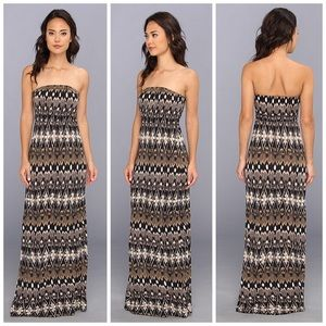 Joie Dresses & Skirts - Joie Boho Ruma Strapless Printed Jersey Maxi Dress