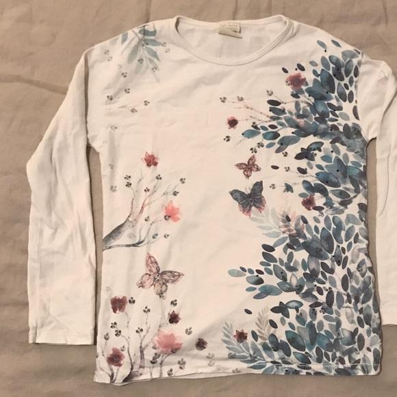 8ff23a84 Zara Shirts & Tops | Kids Girls Graphic Tee | Poshmark