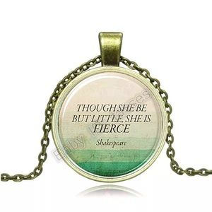 Shakespeare Quote Bronze & Brass Necklace