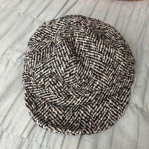 Black and white Flat cap