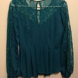 love richie Tops - lace turquoise top ❤️