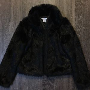 nasty gal jackets coats glamorous furred lines faux fur jacket