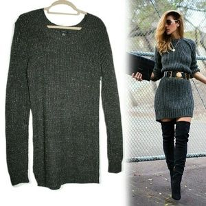 Rue21 Dresses & Skirts - Sparkly Charcoal Gray Sweater Dress