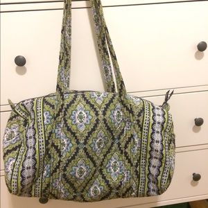 vera bradley quilted small duffel bag