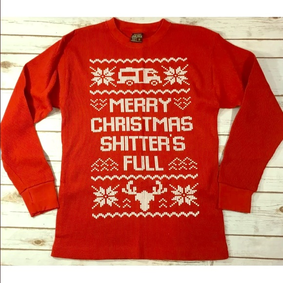 6f395097 Sun Tees Shirts | National Lampoon Red Christmas Thermal Shirt ...