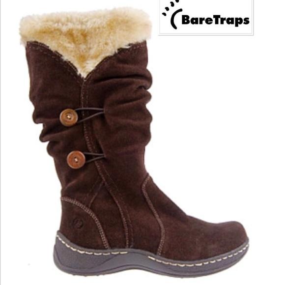 BARE TRAPS Shoes - BARE TRAPS ESHA Suede Water Resistant Faux Boots 58575cb00