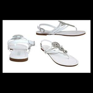 Olivia Miller Venice Women's White Buckle Sandals