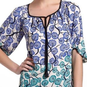 Vanessa Virginia Branching Blooms Tunic Blouse