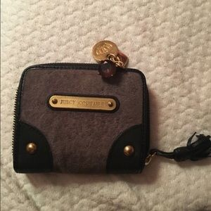 Velvet and leather Juicy Couture wallet