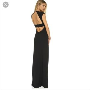 T BY ALEXANDER WANG OPEN BACK GOWN