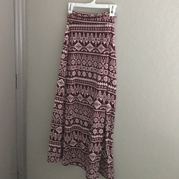 dcad30e20 Forever 21 Dresses & Skirts - Forever 21 Aztec Burgundy Maxi Skirt