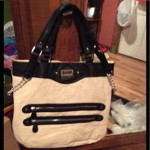 Handbags - Danneill Nicole handbag🌹linen~EUC~Black Trim~Lg👜