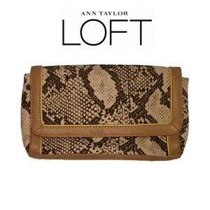 LOFT Handbags - LOFT Snakeskin Clutch