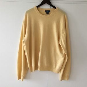 Men's Cashmere Sweater Yellow