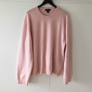 Men's Light Pink Cashmere Sweater