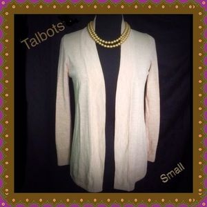 Beige Cardigan / Talbots / small / Wool