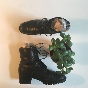 Ipanema Shoes - Vintage 90's Leather Lace-up Boots