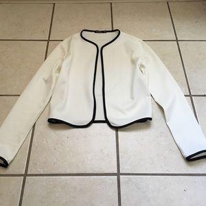 Boohoo Jackets & Blazers - White and Black Blazer