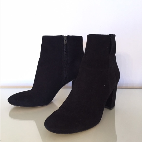 Boots Poshmark Nine Suede Chunky Ankle Black Heel 85 West Shoes XpXq4z