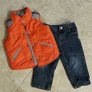 Kenneth Cole Reaction Other - Kenneth Cole toddler jeans 24m and vest 24m