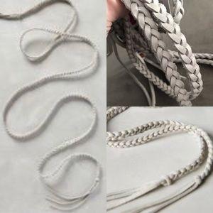 NWT anthropologie ada braid wrap belt smoke