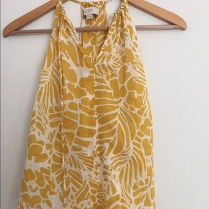 LOFT Tops - Yellow Casual Blouse