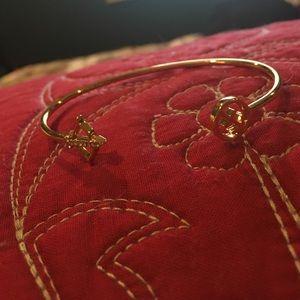 Jewelry - Gold Open Cuff Sagittarius Bangle