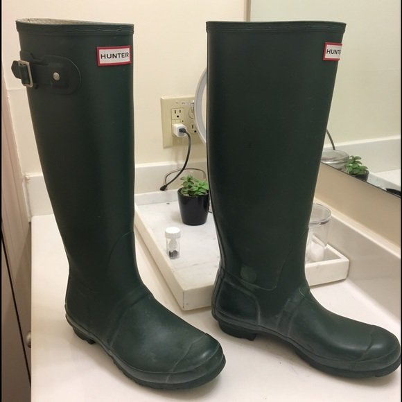61% off Hunter Shoes - Hunter Original Tall Rain Boots / Dark ...
