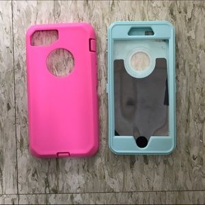Pink and blue iPhone 7 case