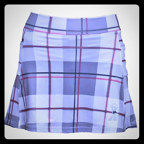 Plaid Running Skirt Athletic Skirt (with shorts) NWT