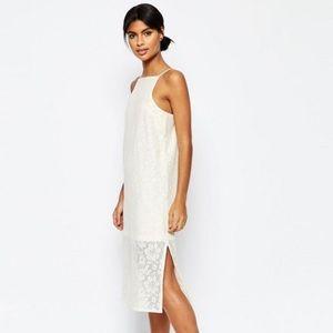 ASOS Column Lace Midi Dress