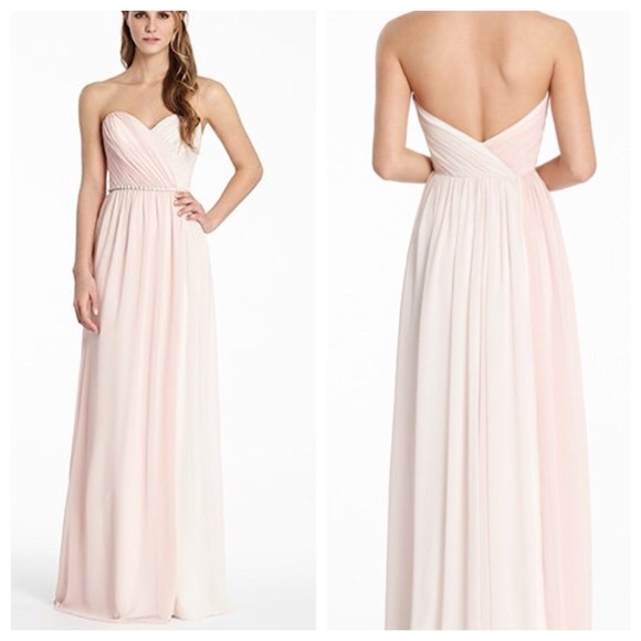 Hayley Paige Occasions Dresses Neutral Bridesmaid Dress Poshmark