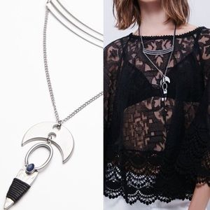 Free People Jewelry - NWT free people stacked sacred necklace silver