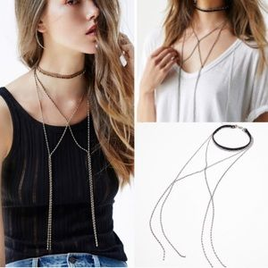 Free People Jewelry - NWOT free people bolo chain harness necklace brown