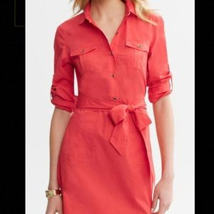 Banana Republic Dresses & Skirts - ⚡️SALE⚡️🆕LISTING! Banana Republic red shirt dress