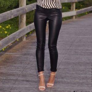 Faux Leather Black Zara Leggings