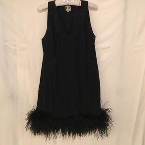 Haute Hippie black silk dress