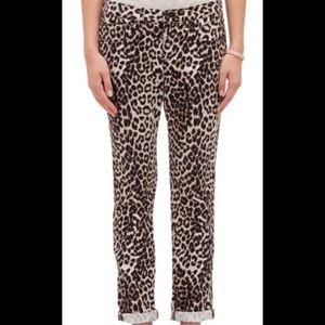 Rag and Bone leopard boyfriend Jean size 27