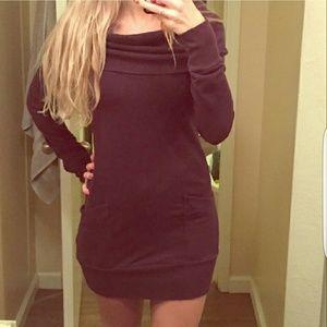 🆑SALE! *Purple Cowl Neck Sweater Dress*