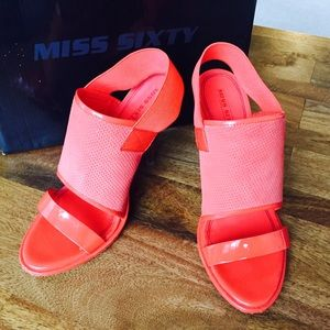 Miss Sixty Shoes - Miss Sixty Leather/Rubber Sandals, Size 9