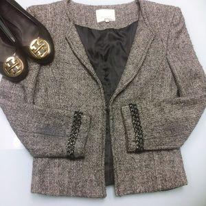 3.1 Phillip Lim Gray Tweed Power Blazer
