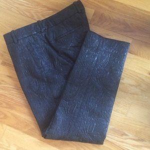 J CREW METALLIC MATELASSE MADDIE PANTS - $120