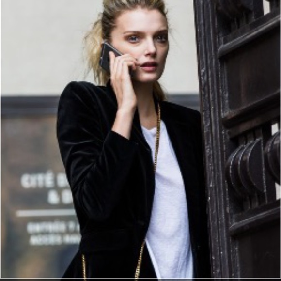 Zara Jackets Coats Woman Black Velvet Blazer Poshmark