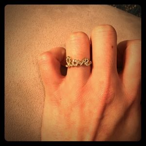 Anthropologie Jewelry - LOVE ring - pave diamond fashion jewelry