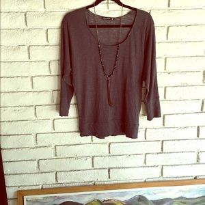 Alternative Tops - Charcoal linen dolman sleeve top M
