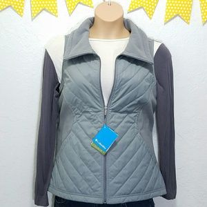 Columbia Jackets & Blazers - NWT Columbia Quilted Gray Vest w/ Pockets