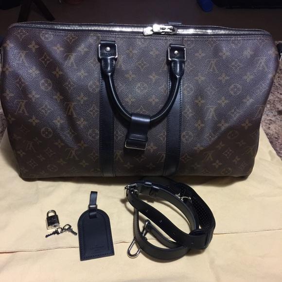 04496304eda Louis Vuitton Bags | Sold Lv Macassar Keepall 45 | Poshmark