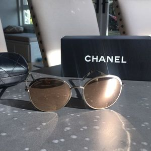 18k gold plated Chanel sunglasses!