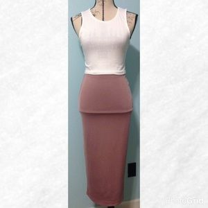 Dresses & Skirts - Mauve Midi Pencil Skirt